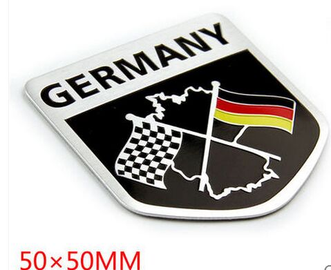 3D Aluminum Germany Map National Flag Car Stickers Car Styling For Vw Volkswagen Golf 4 5 6 7 Polo passat audi bmw ford(China (Mainland))