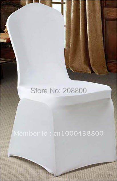 Free shipping/High quality white spandex chair cover/High quality white lycra chair cover(China (Mainland))