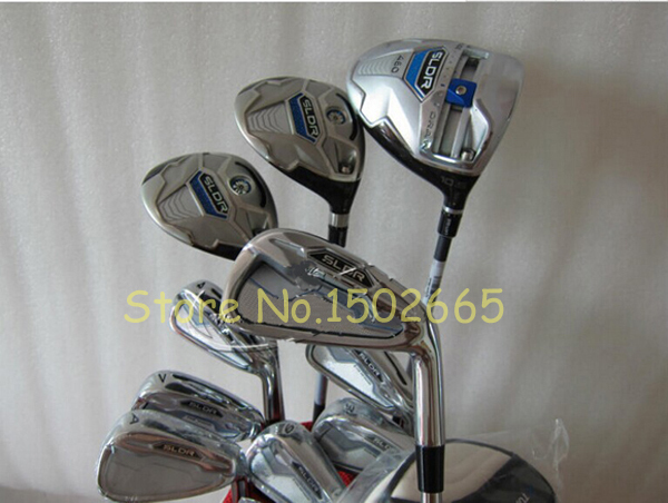 12pc New Full set golf clubs SLDR driver + fairway woods 3# 5# + sldr golf irons 456789PAS free headcover right hand(China (Mainland))