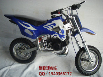 49cc mini motorcycle flame blue and white small off-road vehicles him 49cc mini car