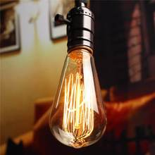 Buy Vintage Edison Light Bulb E27 Incandescent Lamp Bulb Tungsten 60W Filament Candle Hanging Light Warm White Lighting 110/220V for $2.45 in AliExpress store