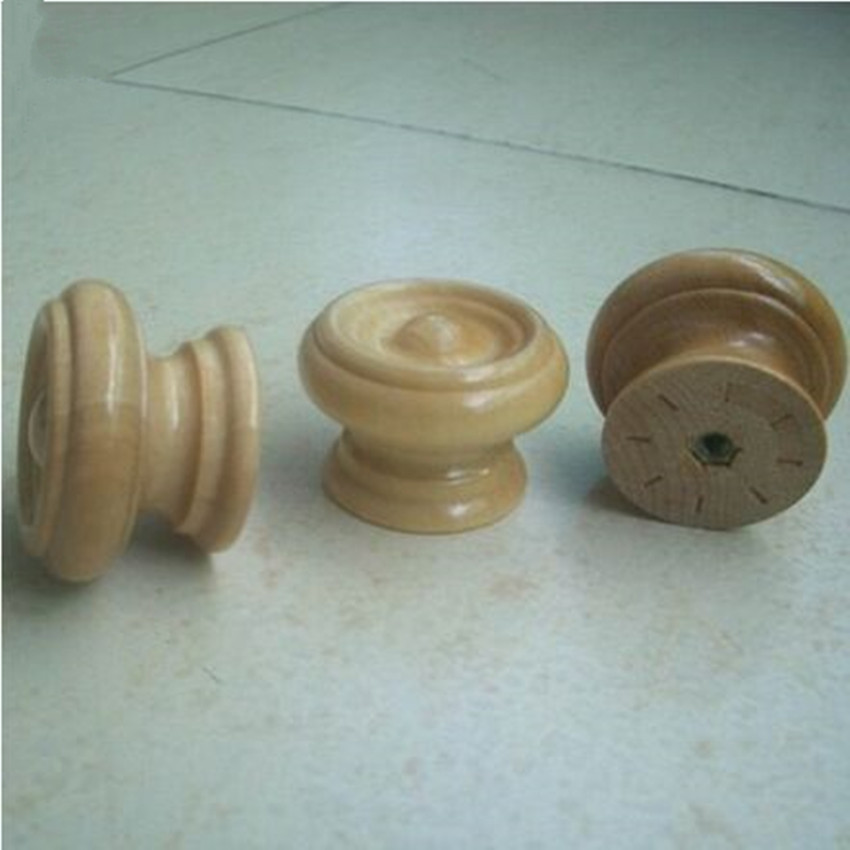 10pcs free shipping Amercian style 38mm wood furniture knobs safety children room drawer cabinet door knob pull mushroom handles(China (Mainland))