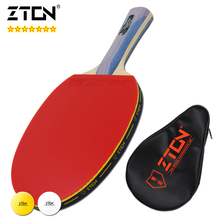 ZTON 7 stars Table tennis racket Ddouble Pimples-in rubber Ping Pong Racket tenis de mesa table tennis(China (Mainland))