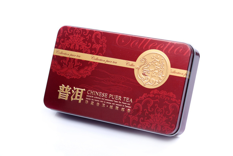 R Free Shipping Tea Gift Yunnan Pu er Tuocha Iron Box Mini Cooked Puer tea