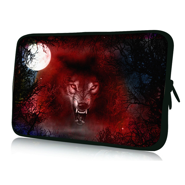 "Wolf 7'' Soft Sleeve Bag Case Pouch Cover For 7"" Samsung Galaxy Tab P1000/ HTC Flyer Table(China (Mainland))"