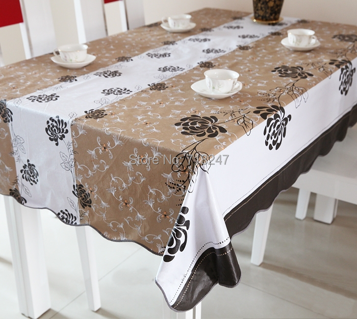 12 Designs 137183cm PVC Table Cloth Plastic Waterproof  : 12 Designs 137 183cm PVC Table Cloth Plastic Waterproof Oil Heat Resistant Disposable Dining Tablecloths Printed from www.aliexpress.com size 700 x 625 jpeg 303kB