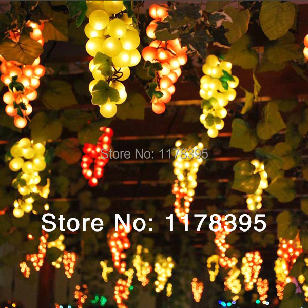 Led Grape Cluster String Lights : led grape fairy cluster light