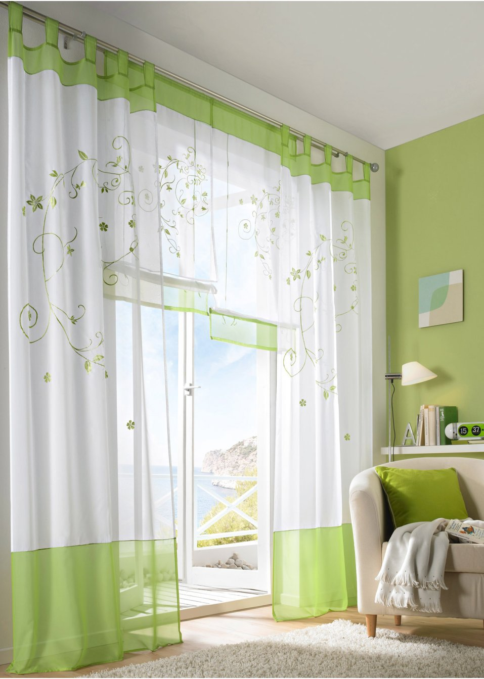 Free shipping fashion eco-friendly quality rustic embroidered balcony the finished curtain window(China (Mainland))