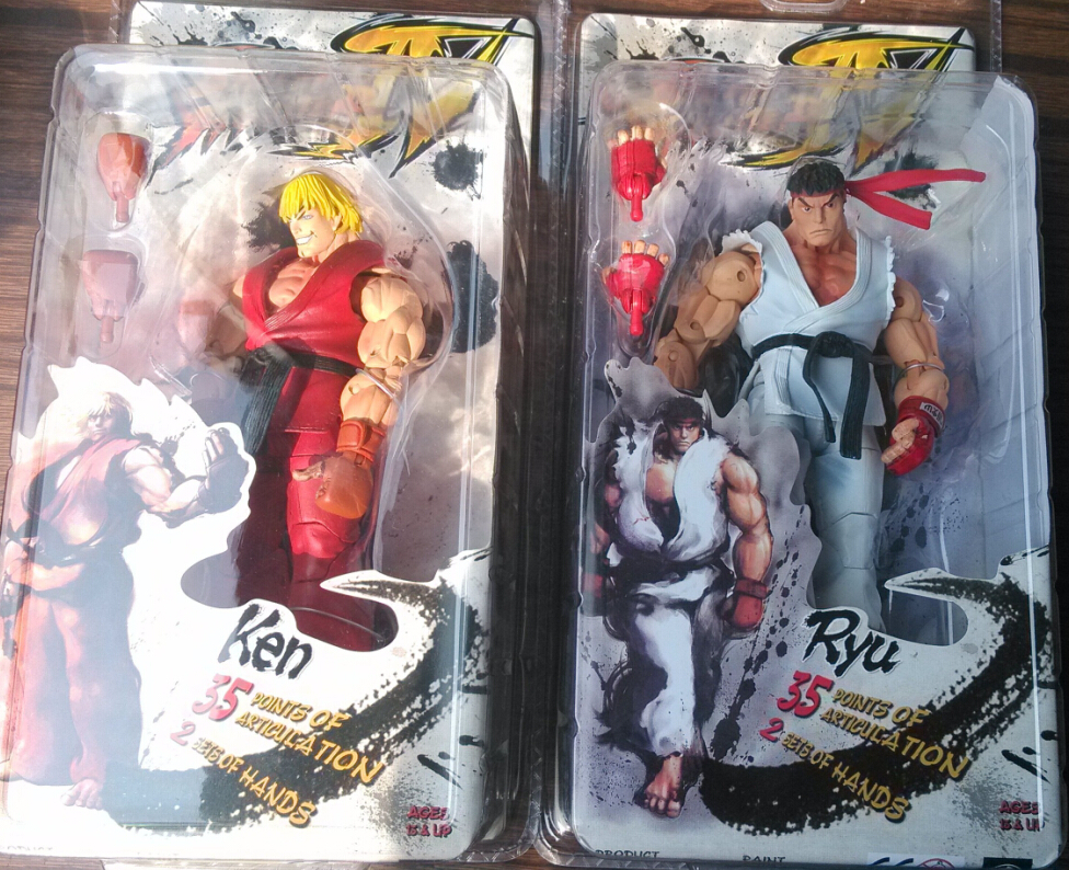 Street fighter Ken+RYU 7 action figures classie toys for boys collection in original box ST0018<br><br>Aliexpress