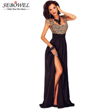 Buy Lace Stitching Backless Top Elegant Long Party Dresses Floor Length Formal Dress High Slit Side Women Dress Party Evening for $26.93 in AliExpress store