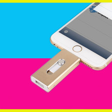 Special offer Phone OTG USB Flash Drive for iphone 6/5 ipad lightning Pen drive 8g 16gb 32gb 64gb iFlash Driver + Micro usb