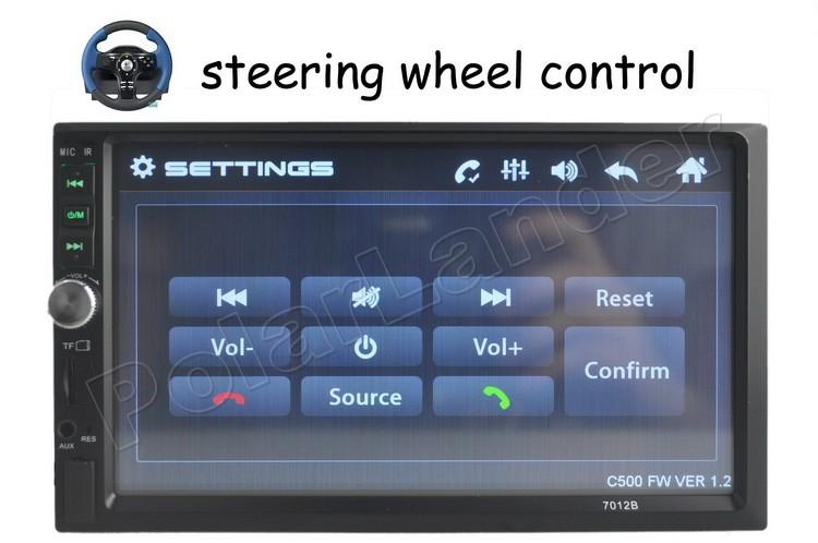 "7"" Inch Double 2 Din Car Radio Mp5 Mp4 Bluetooth Audio Radio Stereo steering wheel contrl FM/USB/TF touch screen for rear camera"