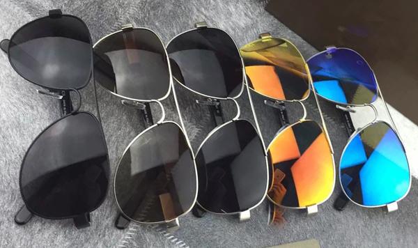 Fashion Vintage Mens Black Aviator Sunglasses Eyewear Brand New with Box(China (Mainland))