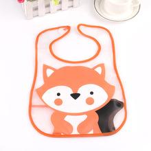Baby Bibs Waterproof Fox Cartoon Animal Pattern Children Bibs Infant Burp Cloths Brand Clothing Towel Kids Clothing Accessories