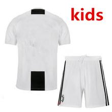 18 2019 Juventus crianças t-shirt kit soccer jersey 3rd new 2018 MENINO criança crianças kit camisa Juventus DYBALA Ronaldo futebol camisa(China)