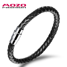 2016 New Hot Fashion Jewelry Men's Bracelets Genuine Leather Stainless Steel Bracelet Man Gifts Vintage Creative Boutique MPH956(China (Mainland))