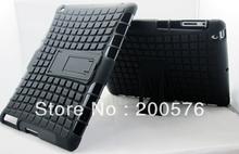Dual Armor Mobile Cell TPU&PC Combo phone Case For iPad 3 Case For iPad 4 case For iPad 2 with Stand in Stock 1pcs(China (Mainland))