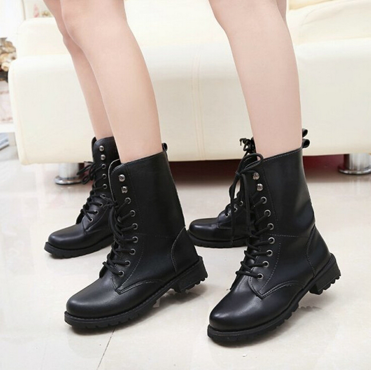 Popular Girls Patent Leather Combat Boots-Buy Cheap Girls Patent ...