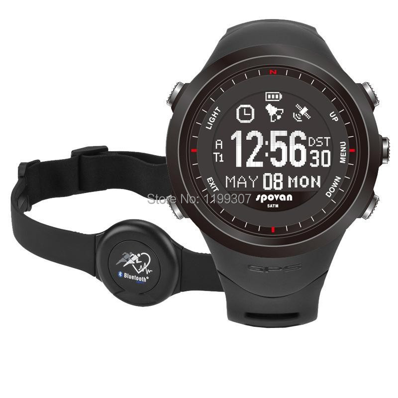SPOVAN electronic table outdoor GPS sports waterproof watch male table GL-004 multifunction heart rate monitor watch(China (Mainland))