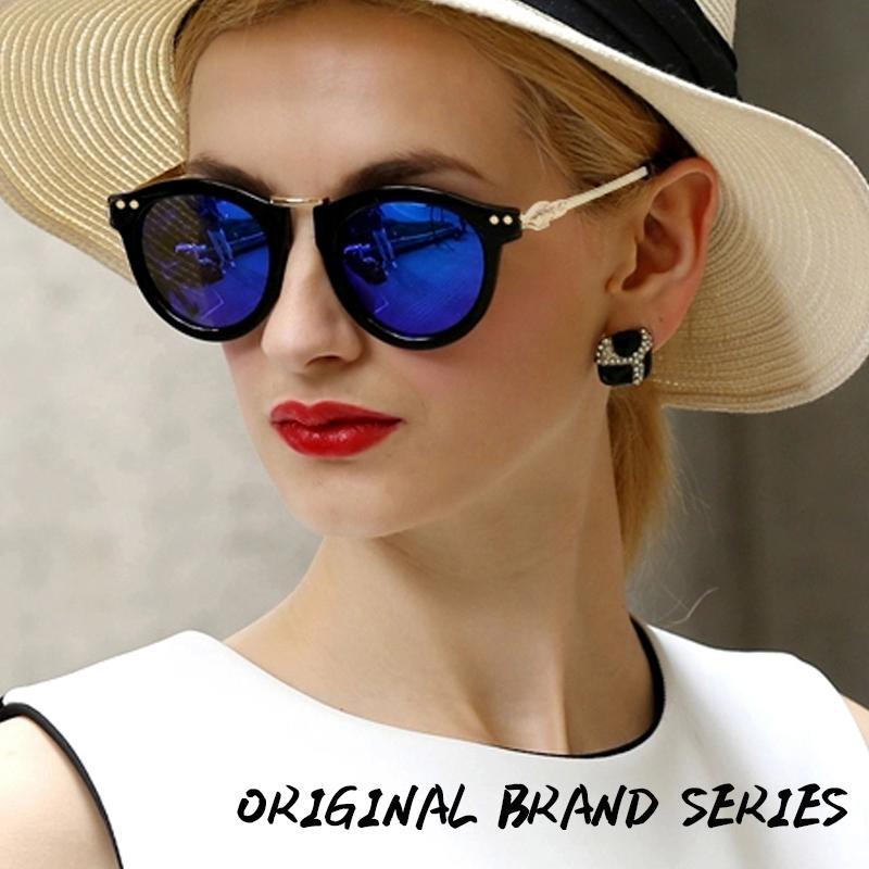 Carved Vintage Style Women Sunglasses Coating Sunglass Vogue Woman Original Brand Designer Glasses Oculos De Sol Feminino E4030(China (Mainland))