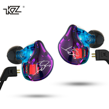 Buy Original KZ ZST DIY Armature Dual-Driver Earphone Detachable Ear Monitors Noise Isolating Earbuds HiFi Music Sports Headsets for $17.00 in AliExpress store