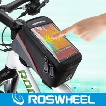 """ROSWHEEL 4.2"""" 4.8"""" 5.5""""1-1/1.5L Cycling Bike Bicycle Frame Front Tube Bag For Cell Phone  MTB Bike Touch Screen Bag"""