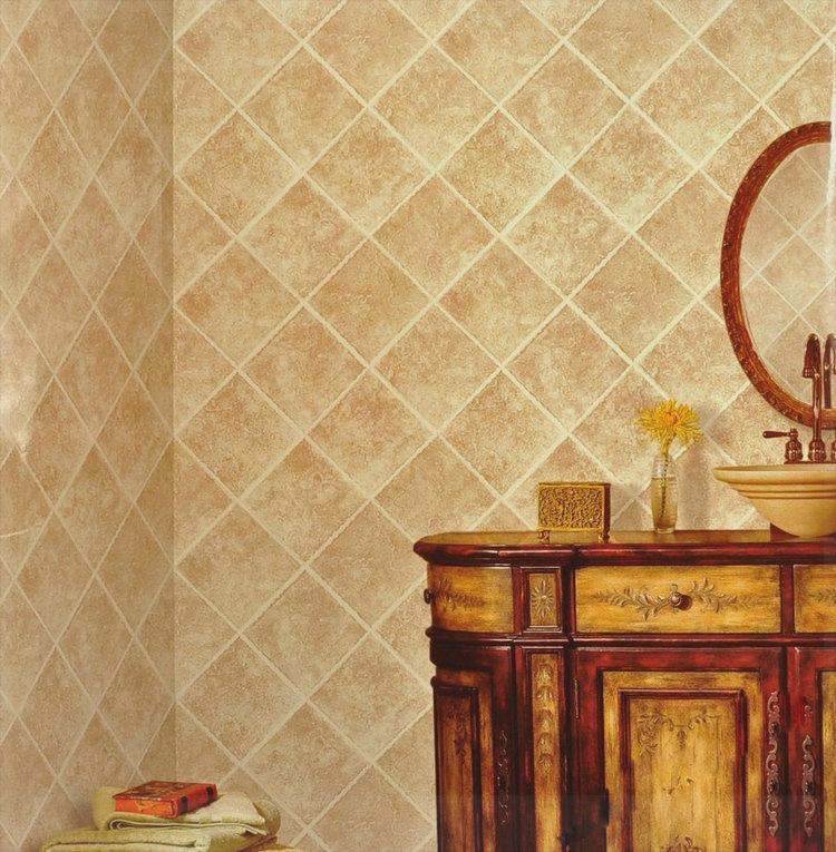 Chinese stijl imitatie marmeren tegel behang behang moderne badkamer