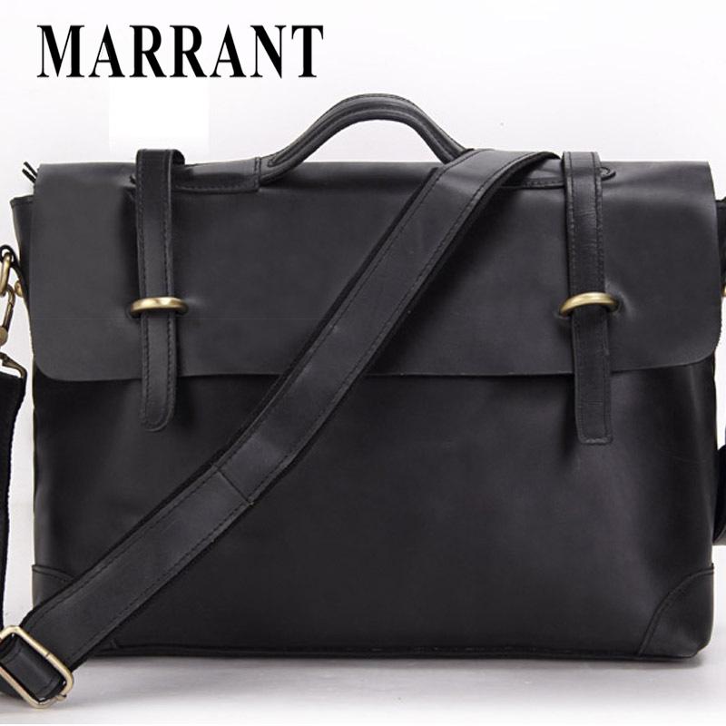 Guaranteed 100% crazy horse genuine leather men messenger bags shoulder tote bag handbags men briefcase men's travel bags 2014(China (Mainland))