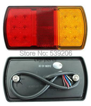 PROMOTION!!! 12V LED TRAILER TAIL LIGHTS LAMPS SUBMERSIBLE WATERPROOF TRUCK BOAT TRALER PARTS (2PCS/1PAIR)