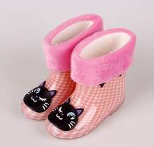 SıCAK çocuk ayakkabı Yağmur Çizmeler Ilkbahar Sonbahar Kış Bebek Erkek Kız Kar Botları ayakkabı moda Bebek ayakkabı çocuk lastik çizmeler(China)