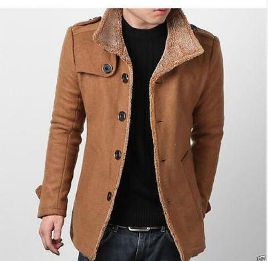 Mens Brown Pea Coat | Fashion Women's Coat 2017