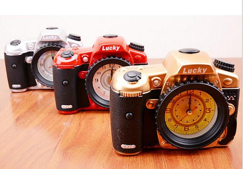 Creative camera alarm clock Personality, fashion clock Gift collection furnishing articles(China (Mainland))