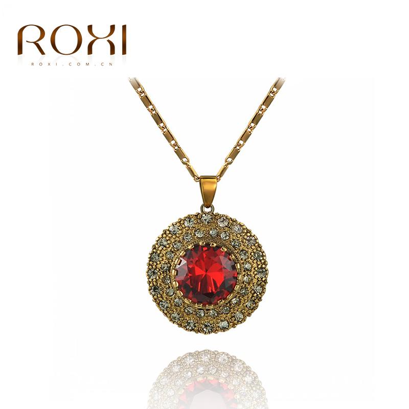 2016 fashion female models-plated necklace round crystal Rhine stone CZ diamond pendant clavicle Pendant sweate 1030931140c(China (Mainland))