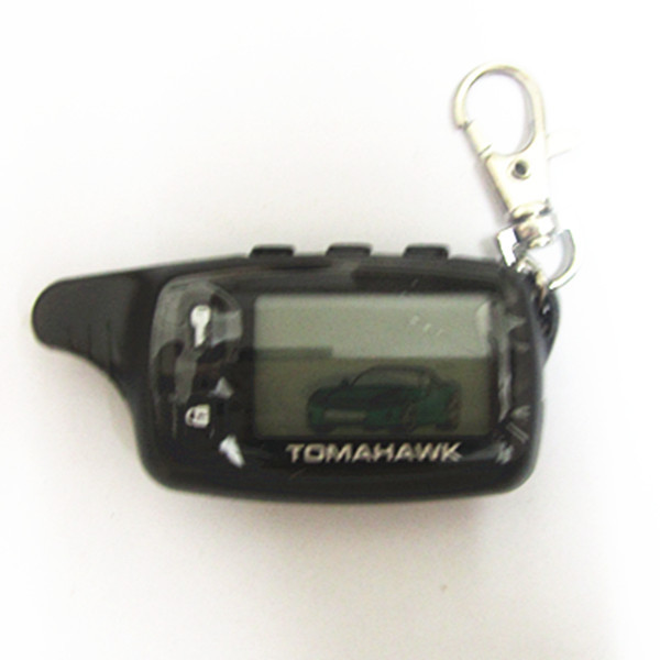 Free Shipping Tomahawk TW9010 Tomahawk 9010 Two way car alarm system Russian Tomahawk TW 9010 keychain(China (Mainland))