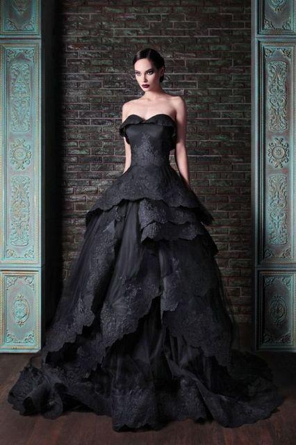 Дополнительная настройка рами кади милая тафта тюль тафта черного кружева готические свадебные платья со слоями swrils юбка