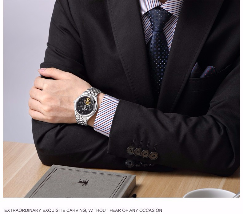 DOM 2016 Часы Мужчин Роскошный Лучший Бренд Механические Часы Fashion Бизнес Сапфир Спорт Повседневная Наручные Часы Relogio Masculino