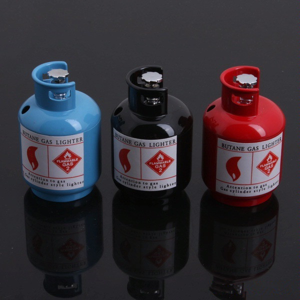 Large metal refining gas bottle gas tank lighter flame lighters(China (Mainland))