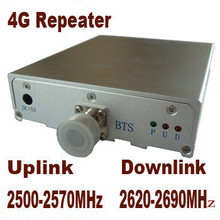 Free Shipping Gain 65dbi 4G repeater signal booster 4G 2500-2570mhz 2620-2690mhz Signal Booster Repeater Amplifier(China (Mainland))