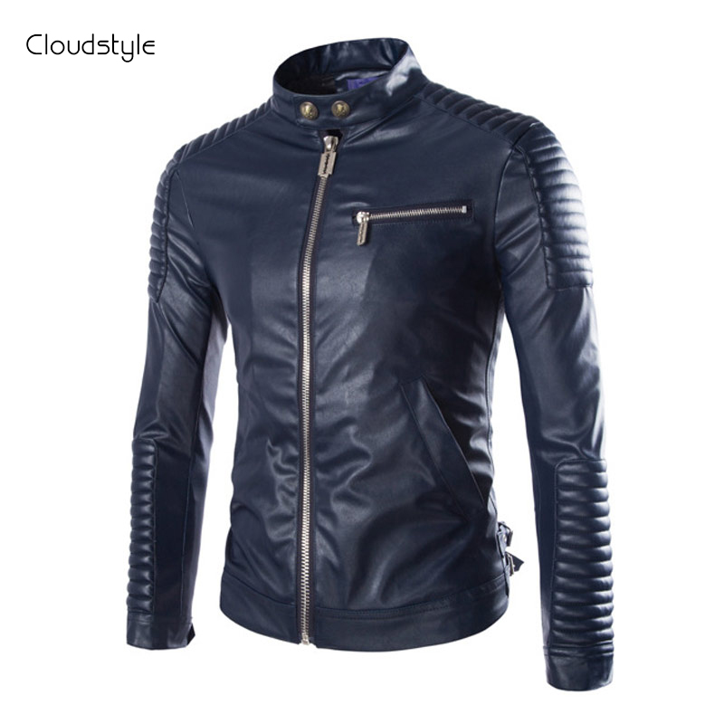 Faux Lelather Jacket Men 2015 New Fashion Motocycle Jacket Windbreaker Famous Brand Men Slim Fit JacketОдежда и ак�е��уары<br><br><br>Aliexpress