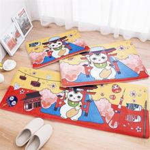 Buy 3 Sizes One Set Lucky Cat Kitchen Mat Home Entrance/Hallway Doormat Anti-Slip Bathroom Carpet Wardrobe/Balcony Area Rug/Mat for $26.97 in AliExpress store