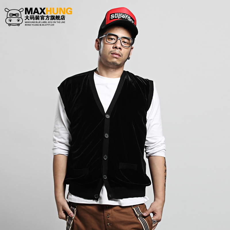 Maxhung Luxury Knitted Sweater Vest Cardigan Vest Plus
