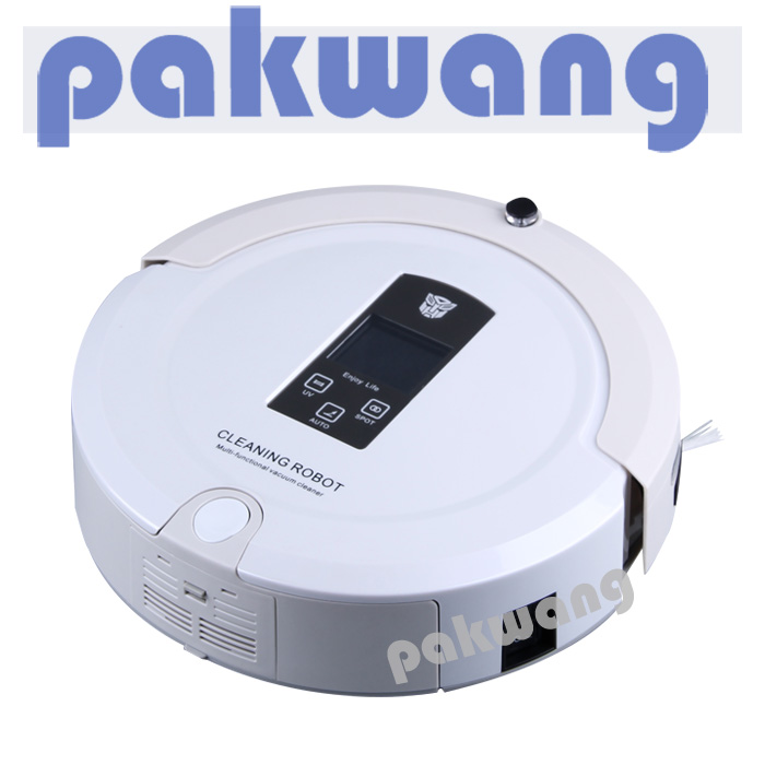 Multifunction Robot Vacuum Cleaner (Auto Clean,Sterilize),LCD Screen,Auto Recharge, Top Rated Vacuum Cleaner(China (Mainland))