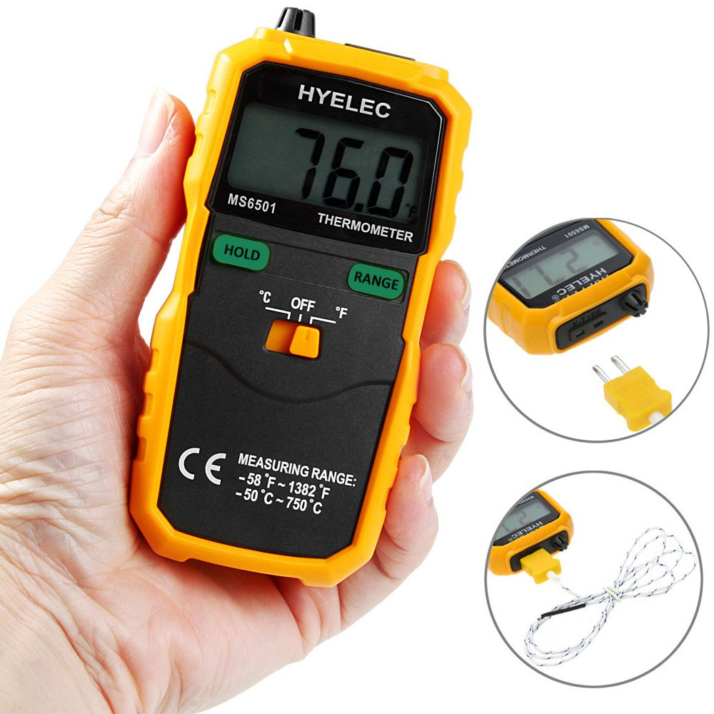 2016 Clearance Professional LCD Display Wireless K Type Digital Thermometer Temperature Meter Thermocouple W/ Data Hold/Logging(China (Mainland))