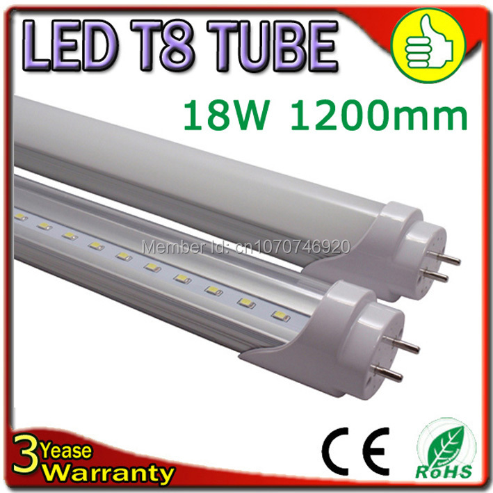 Free Shipping LED Tube Light T8 1500mm 1200mm 900mm 600mm Epistar Chip 110-240V Warranty 3 Years CE RoHS(China (Mainland))