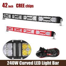 42Inch LED Light Bar Cree Chips 240W 10V-30V Red Black Bezel For Off-Road vehicles-ATVs SUV truck Fork lift trains(China (Mainland))
