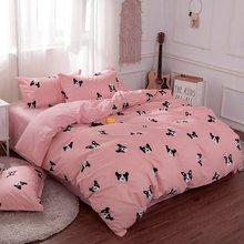 Solstice Home Textile Autumn Dark-color Flower Series Bed Linens 4pcs Bedding Sets Bed Set Duvet Cover Bed Sheet Mans Cover Set(China)