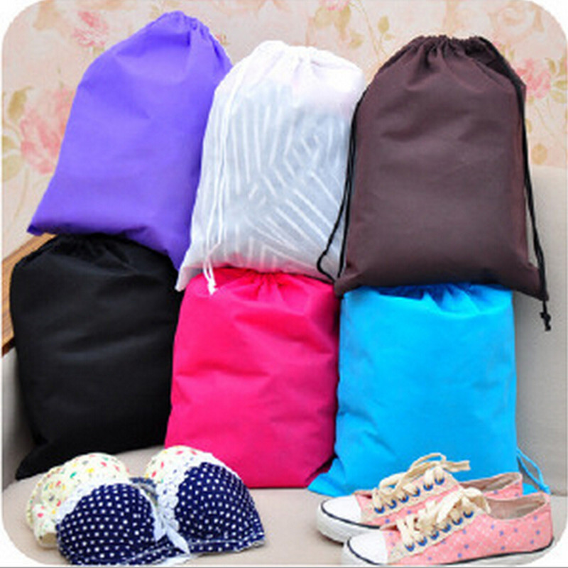 2015 New Arrival Fashion Free Shipping Chic Non-woven shoe storage bag Travel Wash Pouch Handbag 6 Colors Waterproof Wholesale(China (Mainland))