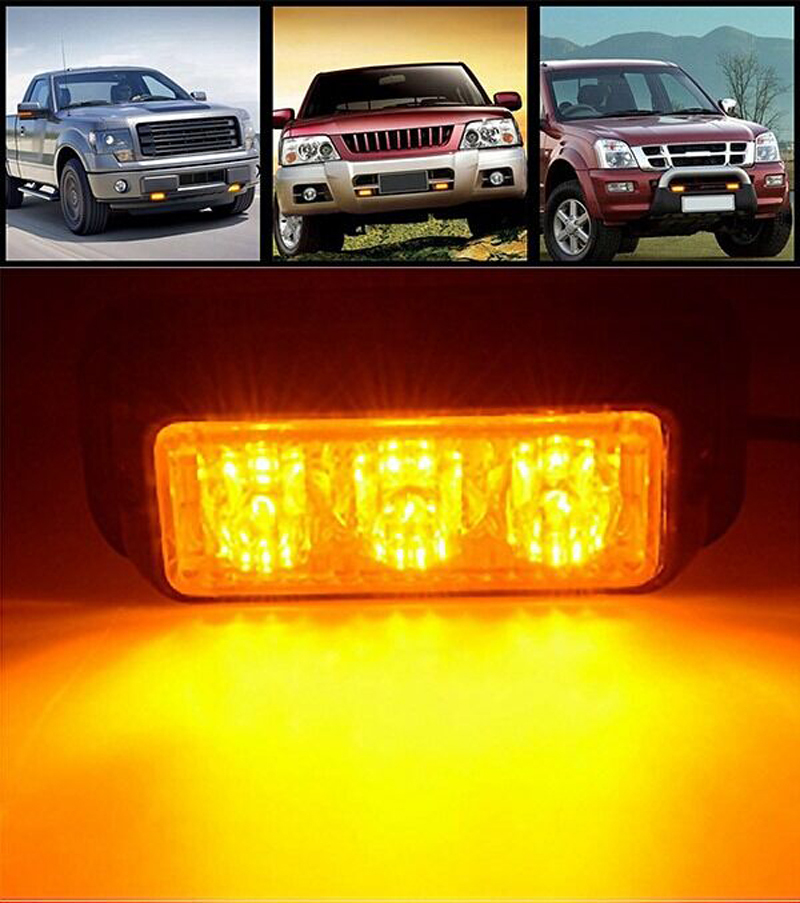 strobe flashing warning 3 led light recovery car truck lamp in warning. Black Bedroom Furniture Sets. Home Design Ideas