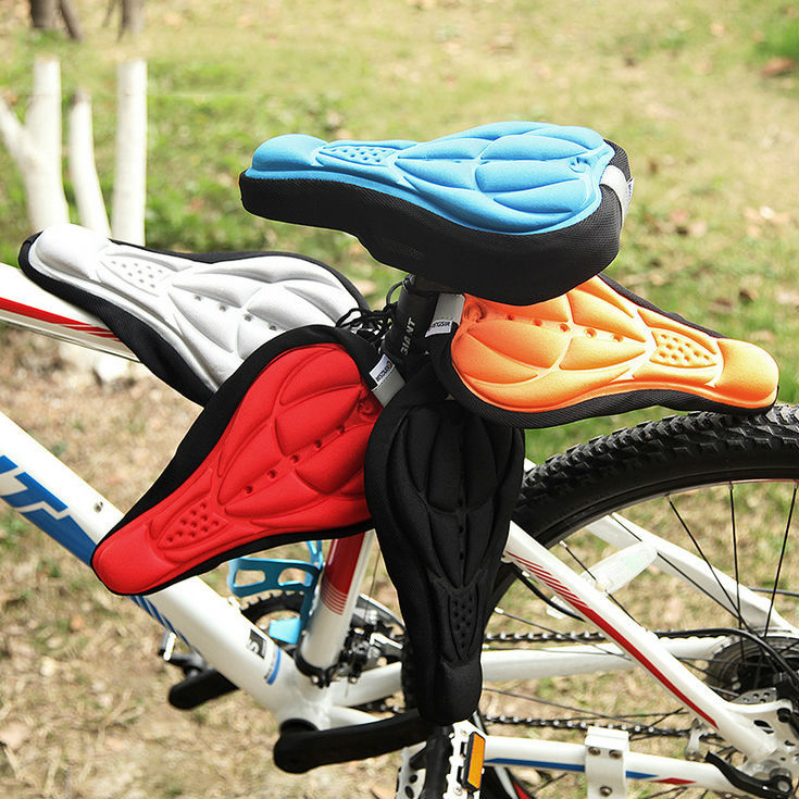 4 Color New Cycling Bike Saddle Comfortable Cushion Soft Pad Bicycle Seat Cover 202-0067 - Mini Hut store