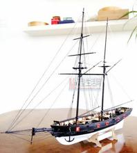 Free shipping 1:100 Scale Wooden Sailboat Halcon1840 Model Ship + life boat + Brass updates kits(China (Mainland))